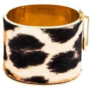 Celine Leopard Pony Hair Manchette Edge Cuff