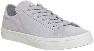adidas Court Vantage Trainers Grey Two Aero Blue Off White