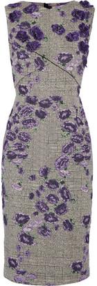 Jason Wu - Floral-appliquéd Cotton-blend Jacquard Dress - Purple $2,695 thestylecure.com