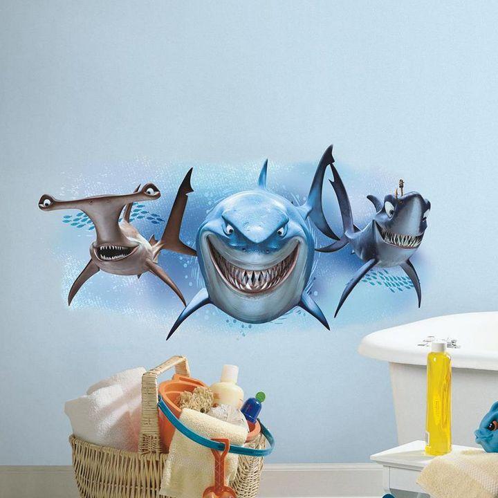 Roommates Disney / Pixar Finding Nemo Sharks Peel & Stick Giant Wall Decals