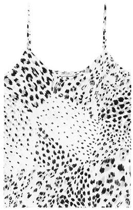Equipment Printed silk camisole