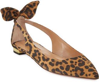 Aquazzura Deneuve Leopard Ballet Flats