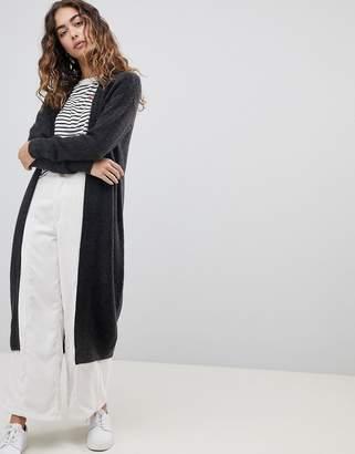Asos Design Maxi Cardigan In Fluffy Yarn