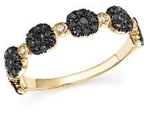 Bloomingdale's Black and White Diamond Micro Pavé Stacking Band in 14K Yellow Gold - 100% Exclusive
