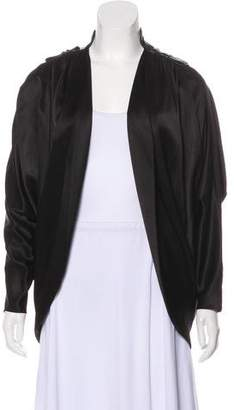 Alexander Wang Leather-Trimmed Open Front Jacket