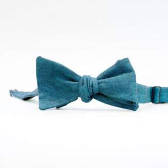 Blade + Blue Solid Teal Chambray Bow Tie