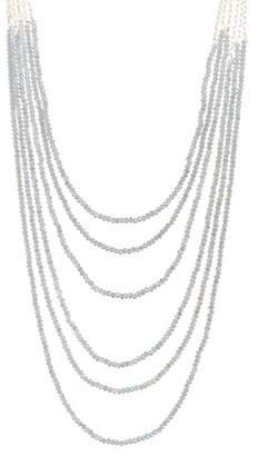 Natasha Accessories Beaded Layered Chain Necklace