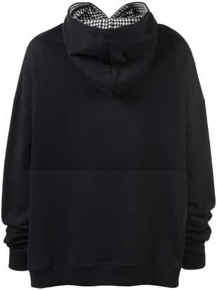 Raf Simons long sleeved reverse hoodie