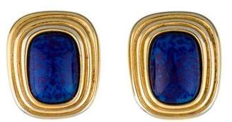 Christian Dior Glass Clip-On Earrings