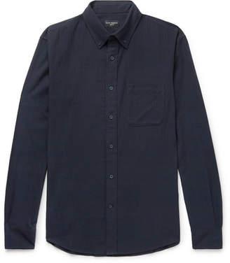 Club Monaco Button-Down Collar Herringbone Cotton-Flannel Shirt