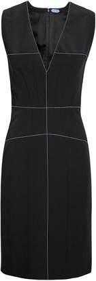 Thierry Mugler Contrast Stitch Black Midi Dress