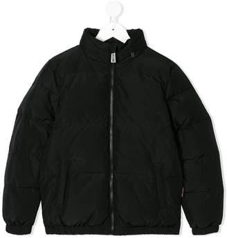 b5e363a2dcbde1 Moschino Kids Italia logo print padded jacket