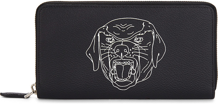 Givenchy Givenchy Rottweiler leather wallet