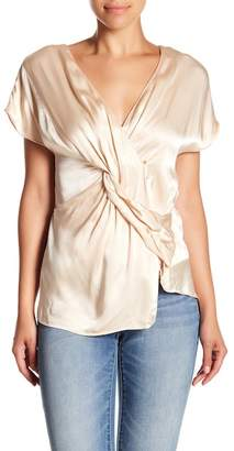 Do & Be Do + Be Twist Side Satin Blouse