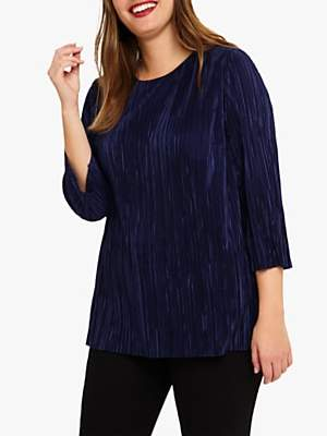 Studio 8 Emma Plisse Top, Mid Blue