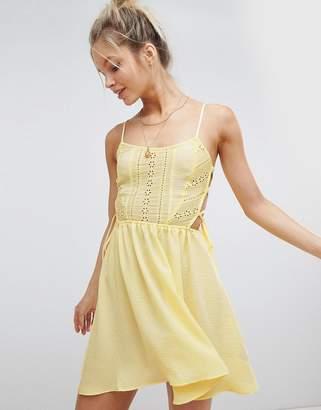 Asos (エイソス) - ASOS DESIGN Broderie Tie Side Beach Dress
