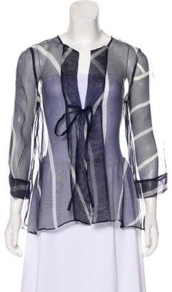 Giorgio Armani Silk Long Sleeve Top