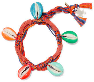Aurelie Bidermann Takayama Braided Cotton And Resin Bracelet - Orange