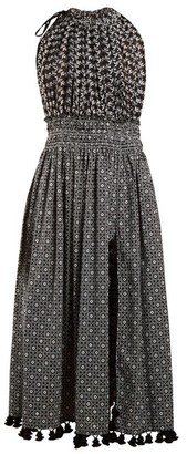 Altuzarra Vivienne Broderie Anglaise Gathered Dress - Womens - Black Print