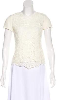 Rebecca Taylor Lace Short Sleeve Top