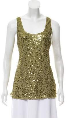 Magaschoni Sequin Sleeveless Top