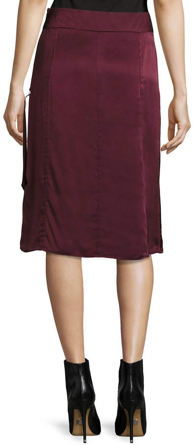 Public School Sanaa Satin A-Line Midi Skirt