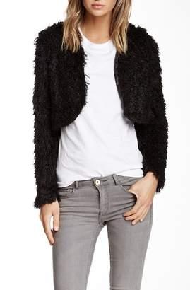 Vertigo Faux Fur Cropped Shrug