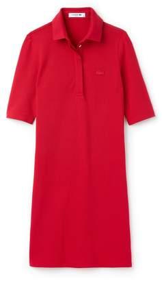 Lacoste Women's Slim Fit Stretch Mini Pique Polo Dress