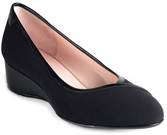 Taryn Rose Felicity Wedges $219 thestylecure.com