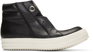 Rick Owens Black Island Dunk High-Top Sneakers $1,160 thestylecure.com