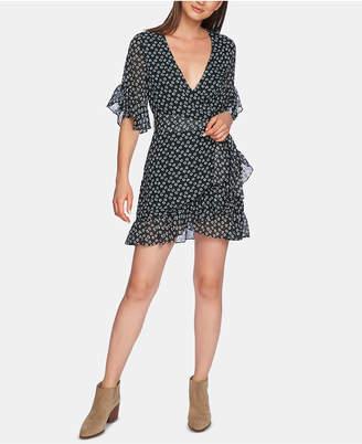 1 STATE 1.state Short-Sleeve Ruffly-Flounce Dress