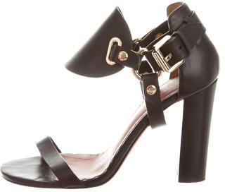 Mulberry Leather Embellished Sandals $245 thestylecure.com