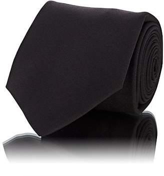 Kiton Men's Wool Micro-Faille Necktie - Brown