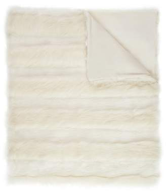 Magaschoni Raised Stripe Faux Fur Throw