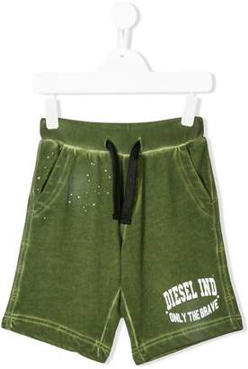 Diesel faded logo print shorts