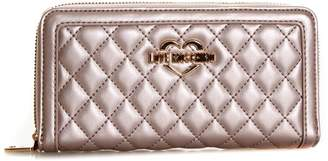 Love Moschino Copper Color Quilted Faux Leather Wallet