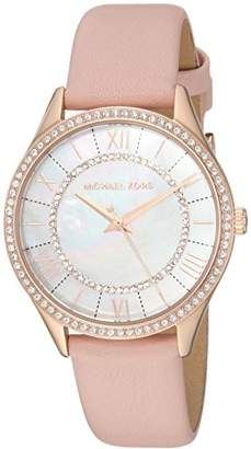 Michael Kors Women's 'Lauryn' Quartz Stainless Steel and Leather Casual Watch