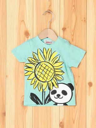 GARACH (ギャラッチ) - GARACH GARACH/パンダとヒマワリ半そでTシャツ チャイルドチャーム カットソー