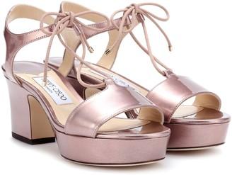 Jimmy Choo Belize 65 patent leather sandals