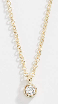 Ef Collection 14k Single Diamond Chain Necklace