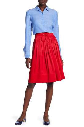 Club Monaco Maneeza A-Line Pleated Skirt