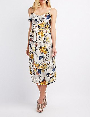 Floral Ruffle-Trim Midi Dress $29.99 thestylecure.com