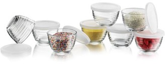 Libbey 8-piece Small Glass Bowl Set with Lids