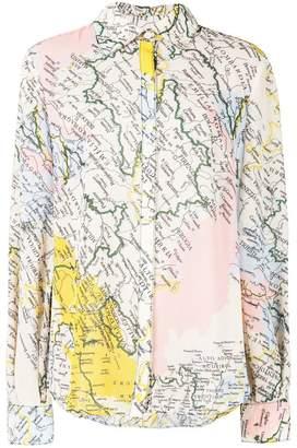 Derek Lam 10 Crosby map print shirt