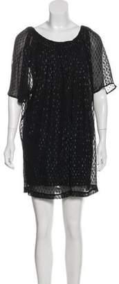 Halston Metallic Shift Dress