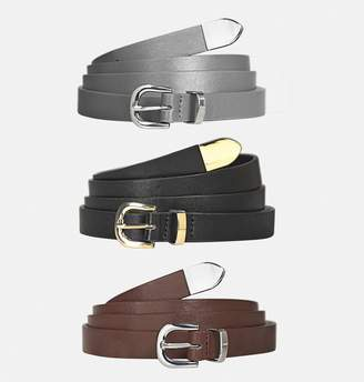 Avenue Metal Tip Belt Set
