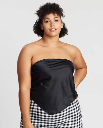 ICONIC EXCLUSIVE - Strapless Scarf Top