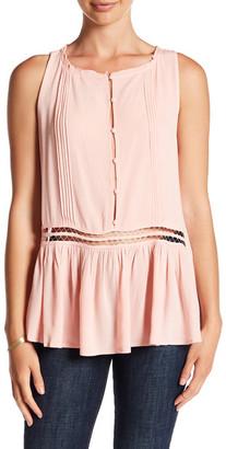 En Creme Sleeveless Button Up Blouse $42 thestylecure.com