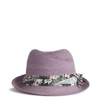 Maison Michel Floral Banded Fedora Hat