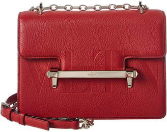 Valentino Uptown Vltn Medium Leather Shoulder Bag